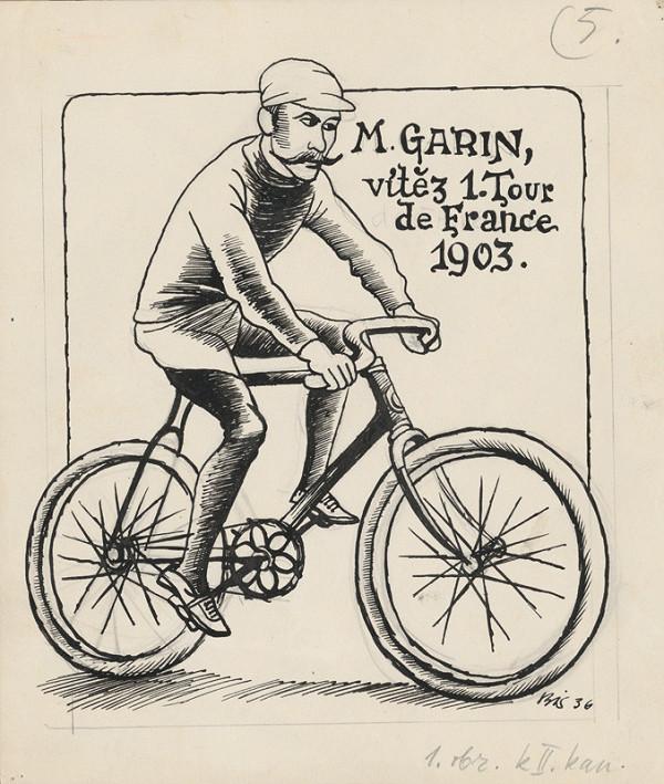 Štefan Bednár - Bicyklista M.Garin - 1936