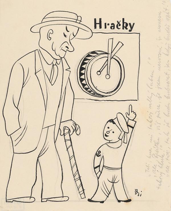 Štefan Bednár - Pred hračkárstvom - 1931