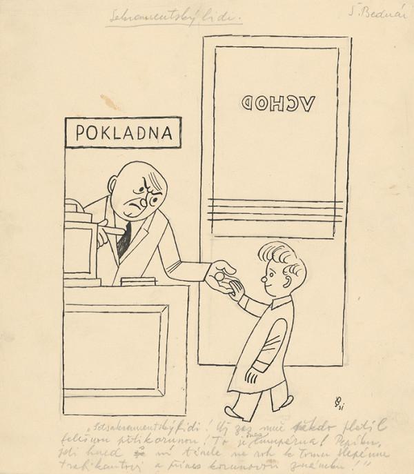 Štefan Bednár - Pokladník - 1931