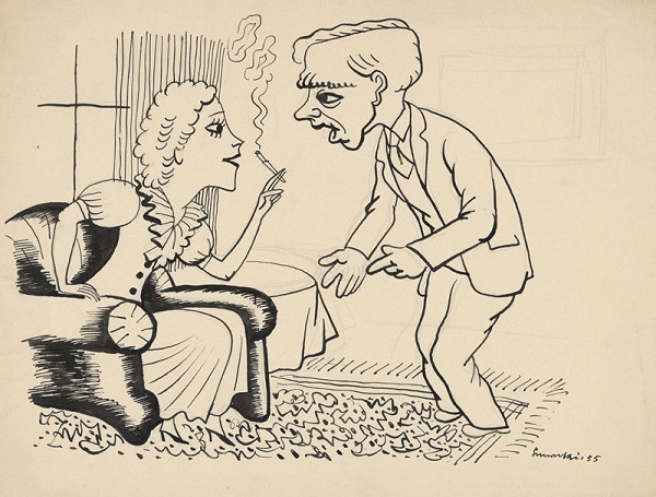 Štefan Bednár - Rozhovor v salóne - 1935