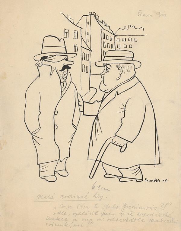 Štefan Bednár – Na ulici - 1935