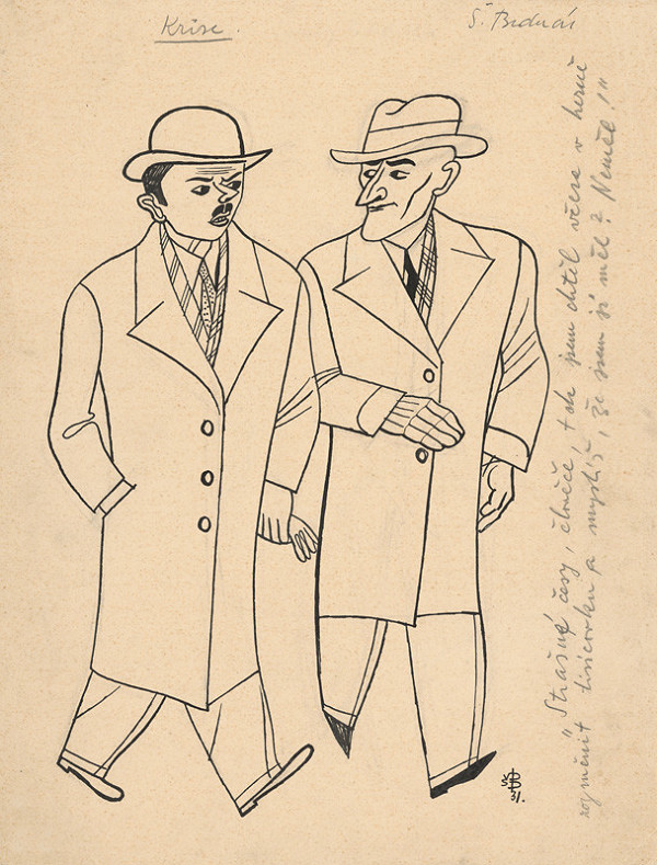Štefan Bednár - Dvaja páni - 1931