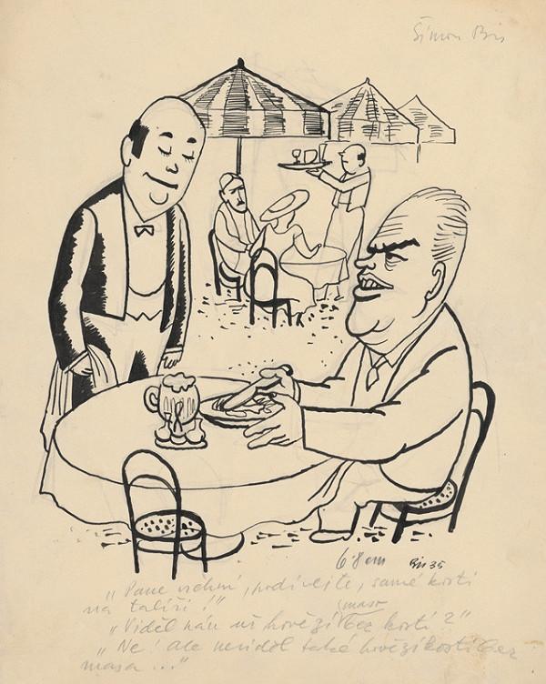 Štefan Bednár - V záhradnej reštaurácii II. - 1935