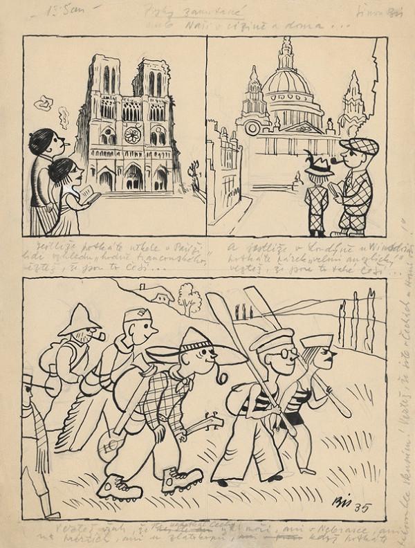 Štefan Bednár - Naši v cudzine a dome - 1935