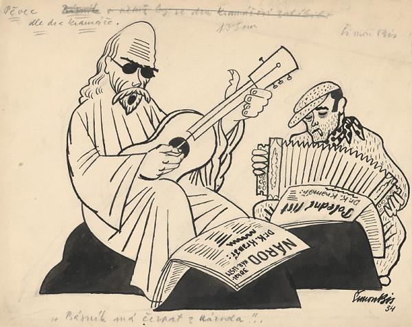 Štefan Bednár - Spevák podľa Dr. Kramářa - 1934