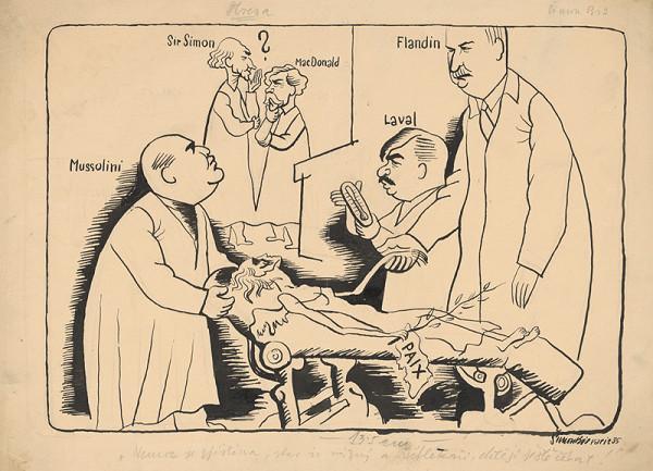 Štefan Bednár - Politici udržujú mier pri živote - 1935