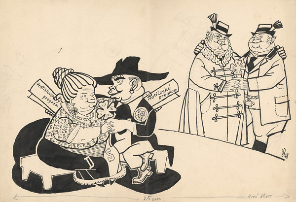 Štefan Bednár – Priateľstvo politických strán - 1948