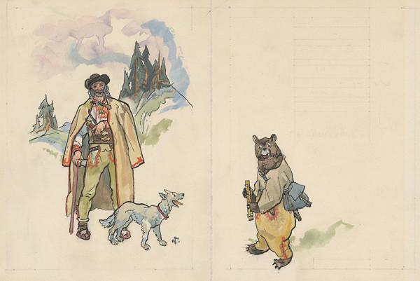 Jaroslav Vodrážka - Bača,pes,medveď