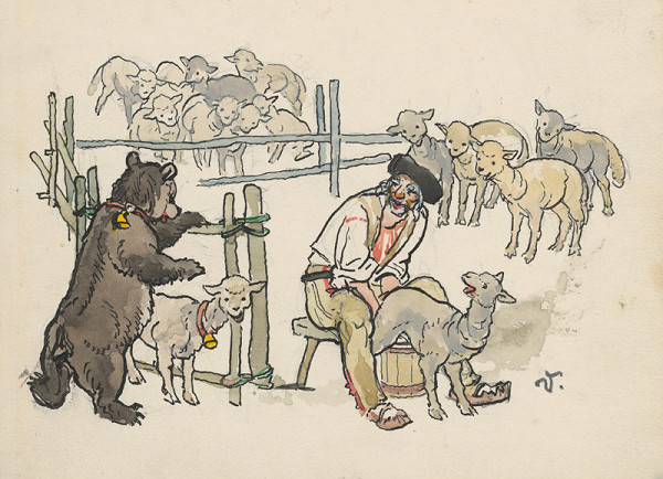 Jaroslav Vodrážka - Dojenie oviec