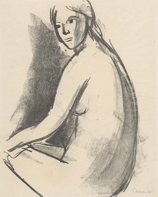 Eugen Nevan – Štúdia sediaceho ženského aktu