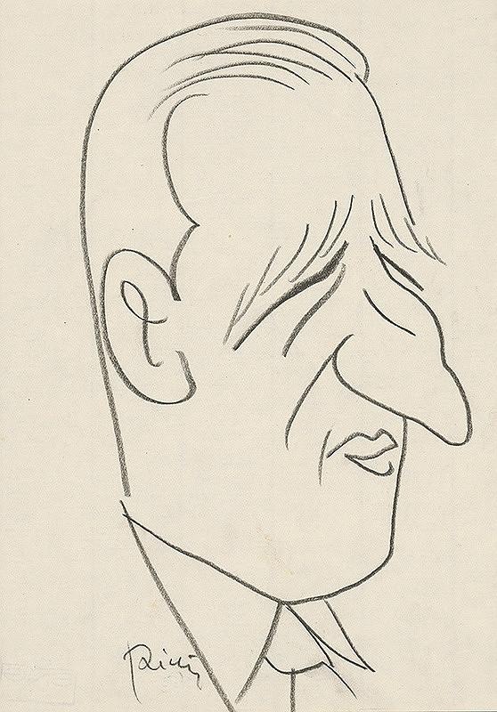 Alexander Richter – Karikatúra J. Majkuta