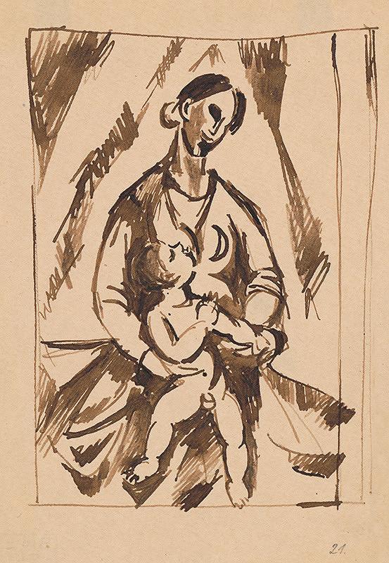 Ján Želibský - Matka s dieťaťom