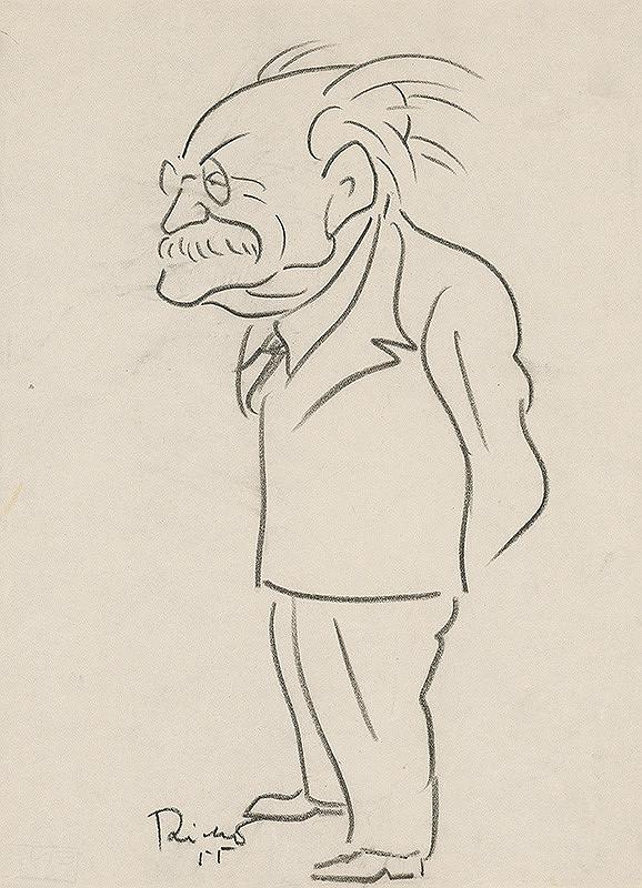 Alexander Richter – Karikatúra Zdenka Nejedlého