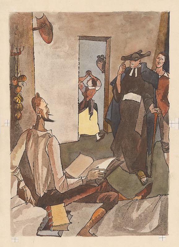 Vincent Hložník - Kňažská návšteva u Dona Quijota