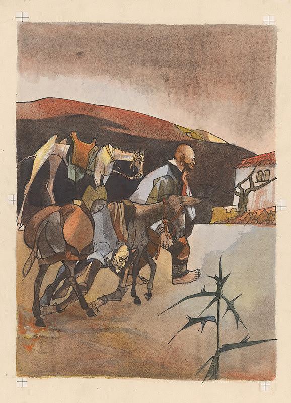 Vincent Hložník - Sancho Panza vchádza do dediny