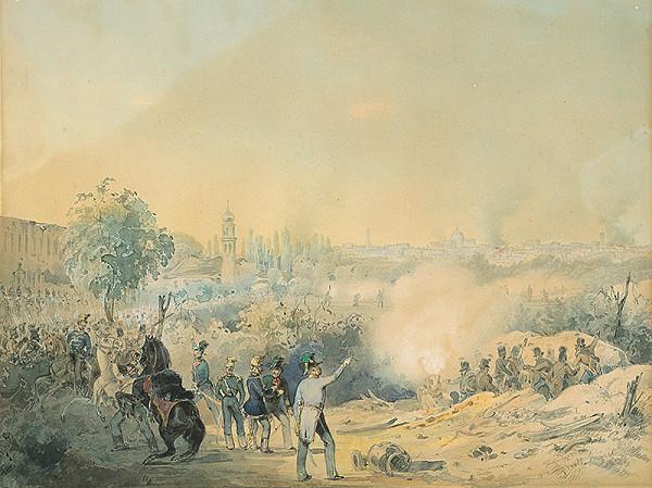 Stredoeurópsky maliar z 2. polovice 19. storočia - Výjav z vojenského ťaženia