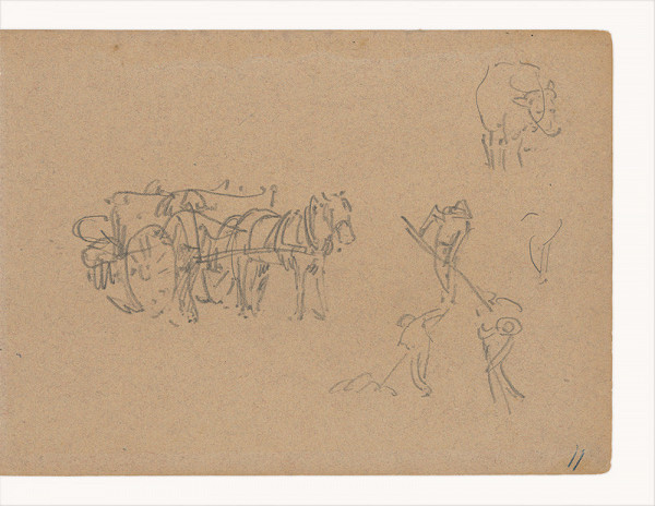 Maximilián Schurmann - Zber sena v Giverny. Skica k obrazu
