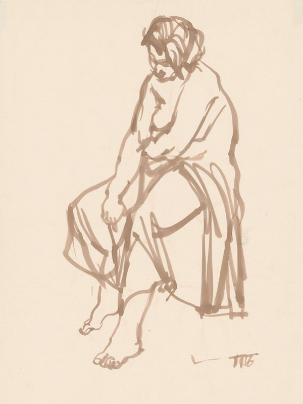 Alexander Trizuljak - Sediaca žena