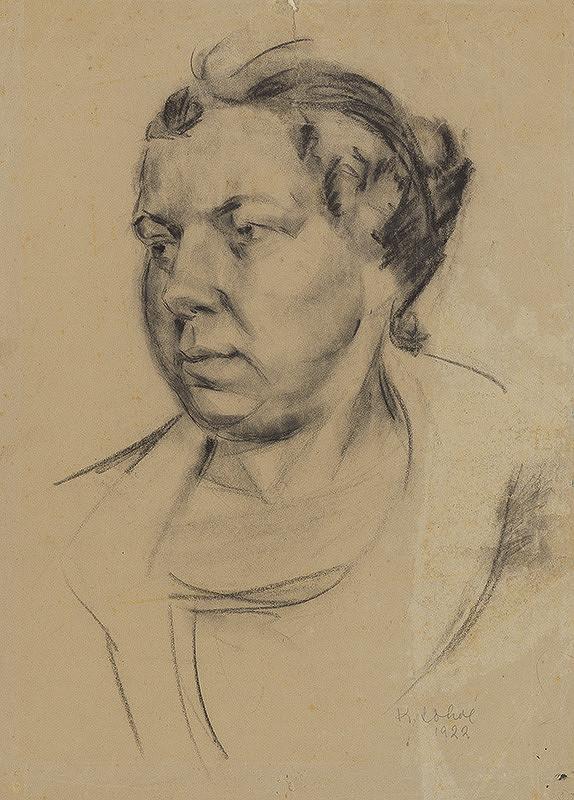 Koloman Sokol - Štúdia ženskej hlavy 1922
