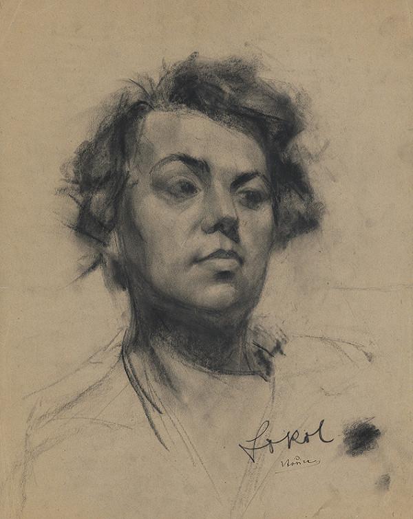 Koloman Sokol - Štúdia hlavy mladej ženy 1922