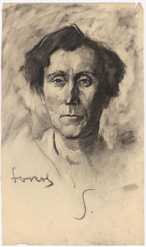 Koloman Sokol - Štúdia hlavy muža - okolo 1925