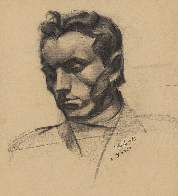 Koloman Sokol - Štúdia mužskej hlavy 1924