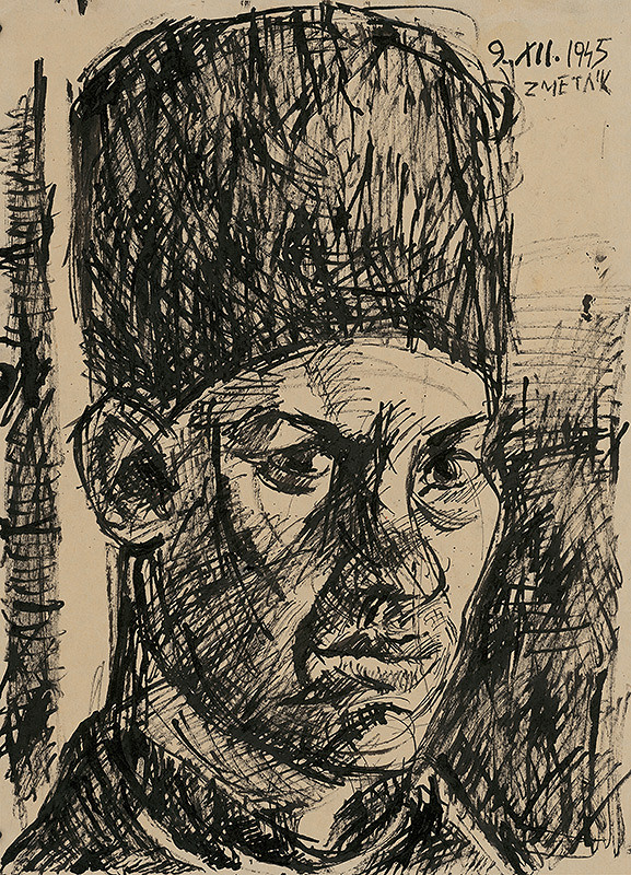 Ernest Zmeták – Autoportrét v baranici
