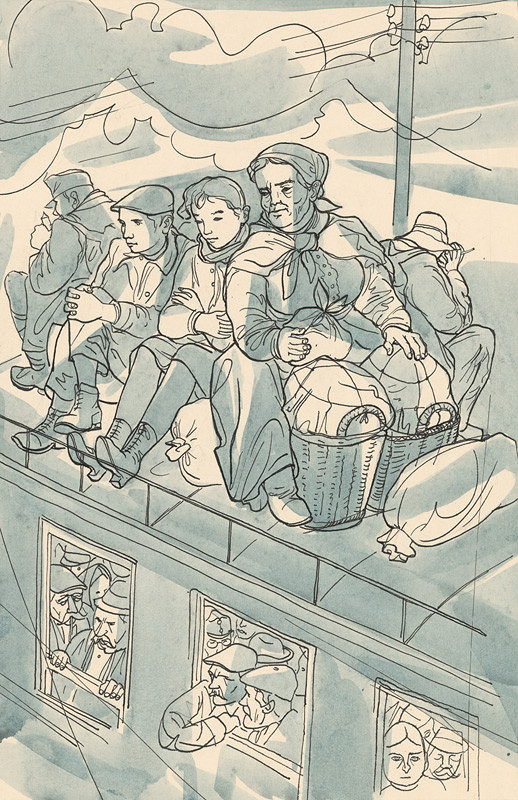 Imrich Weiner-Kráľ - V preplnenom vlaku