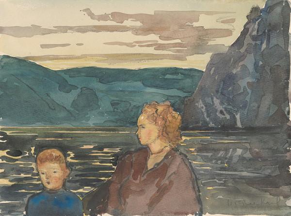 Imrich Weiner-Kráľ – Matka so synom na brehu jazera