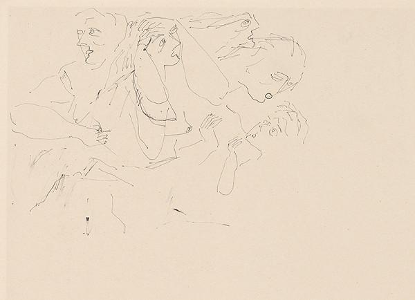 Július Lőrincz - 6.- Vojna II. Skupina 5 ženských postáv ...