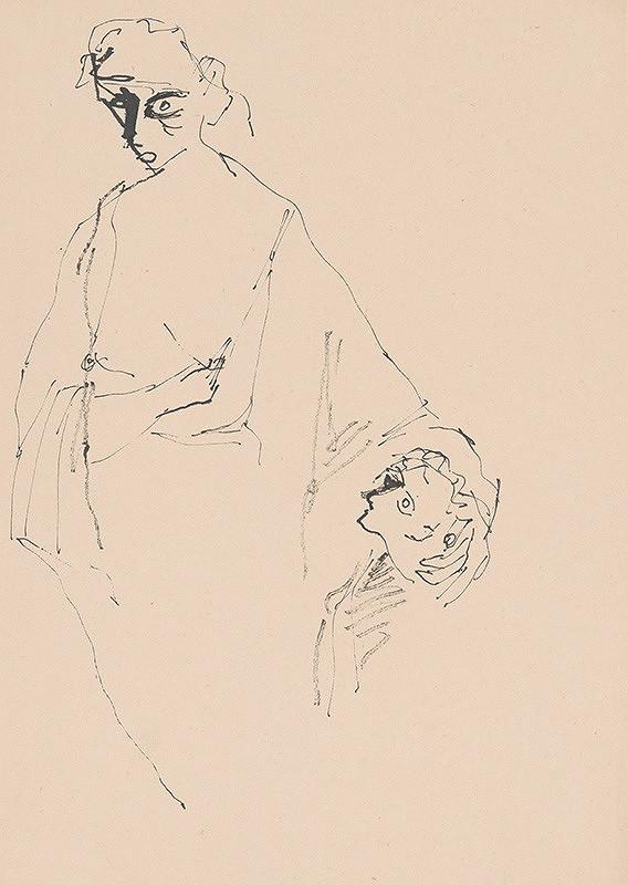 Július Lőrincz – 44. Vojna II. - Žena s dieťaťom