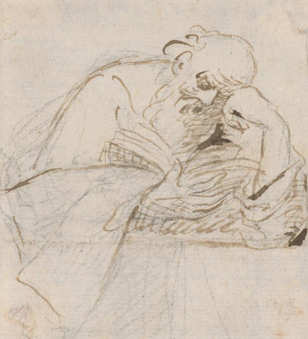 Taliansky majster zo 17. storočia – Čítajúci svätec