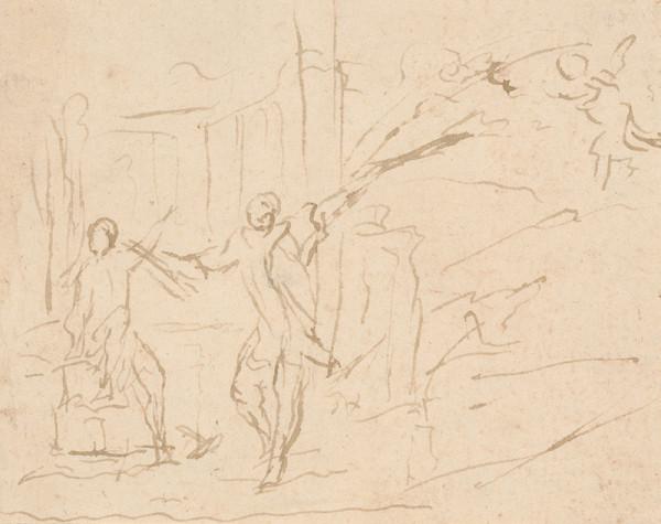 Taliansky majster zo 16. storočia – Anjel prichádza k Jozefovi
