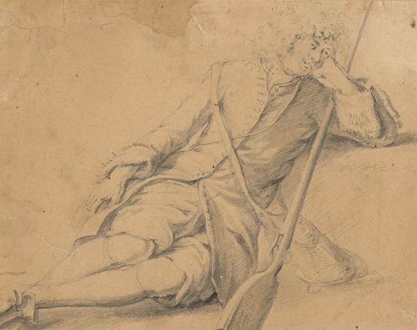 Francúzsky maliar z 1. polovice 18. storočia – Odpočívajúci vojak