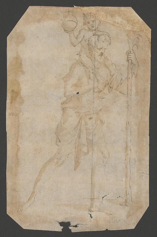 Taliansky maliar z 1. polovice 16. storočia, Parmigianino - Svätý Krištof nesie malého Ježiša