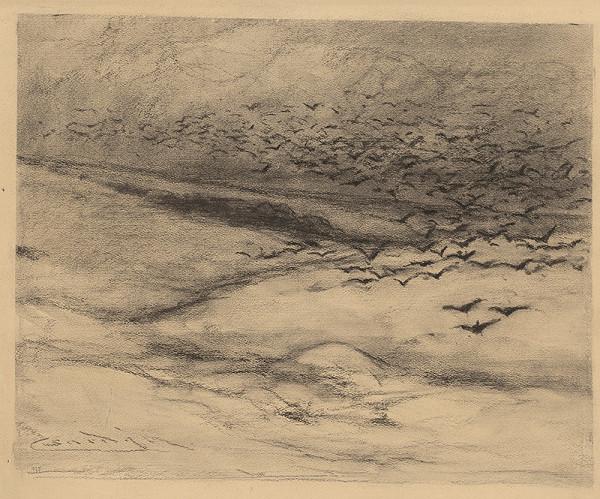 Ľudovít Čordák – Zimná krajina s vranami
