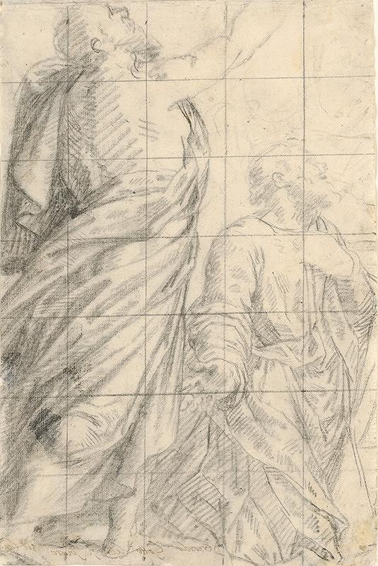 Bernardino Gatti - Štúdia postáv dvoch apoštolov