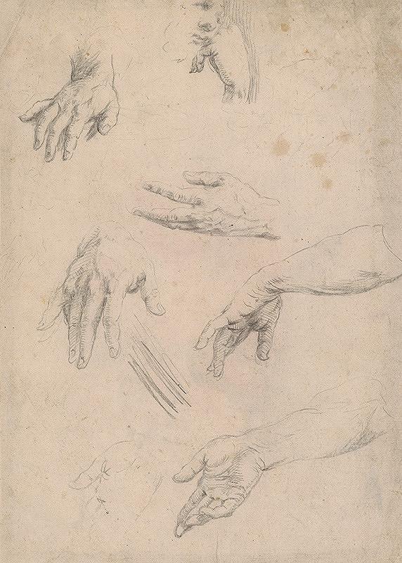 Stredoeurópsky majster z 18. storočia - Štúdia rúk