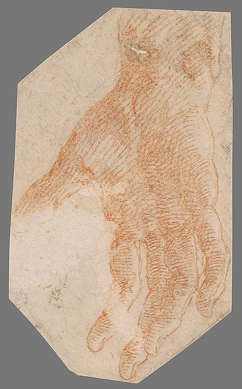 Stredoeurópsky majster z 18. storočia – Štúdia pravej ruky