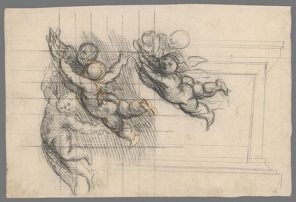 Stredoeurópsky maliar z 18. storočia – Štúdia anjelikov