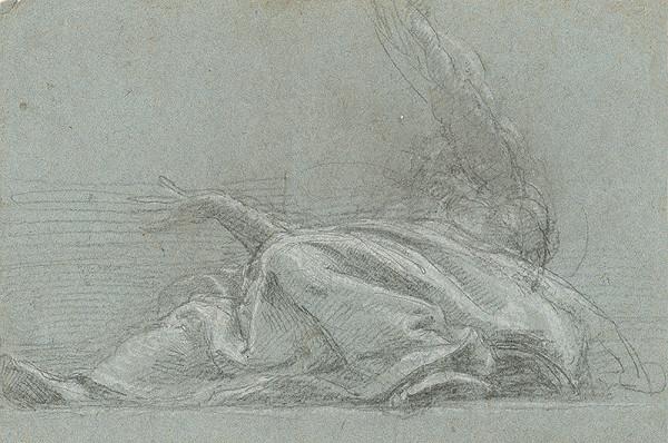 Stredoeurópsky maliar z 18. storočia - Štúdia k vznášajúcemu sa anjelovi