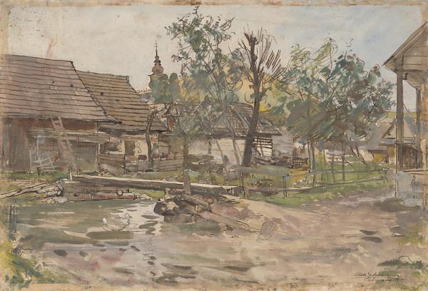 Maximilián Schurmann – Čičmany v daždi