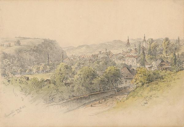 Karol Ľudovít Libay – Pohľad na Banskú Bystricu z východu