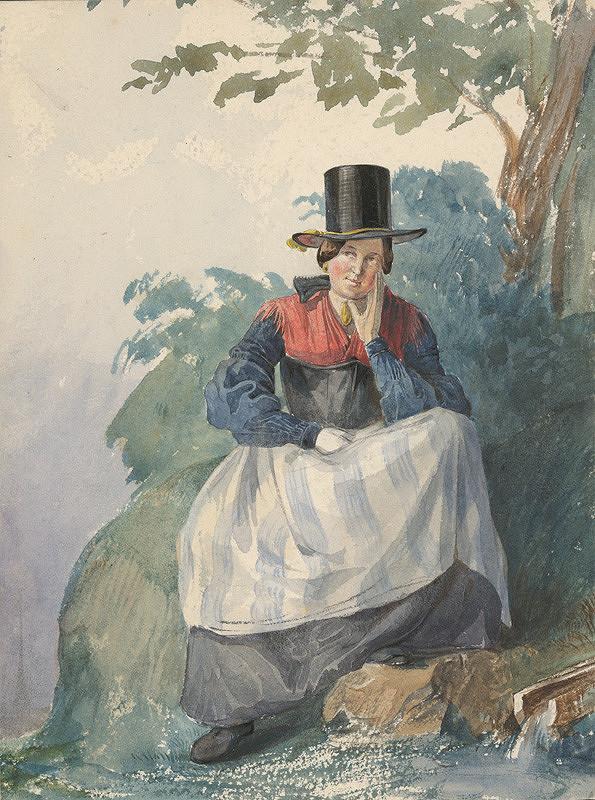 Karol Ľudovít Libay – Sediaca žena pri potoku