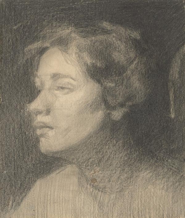 Eduard Putra - Štúdia hlavy dievčaťa
