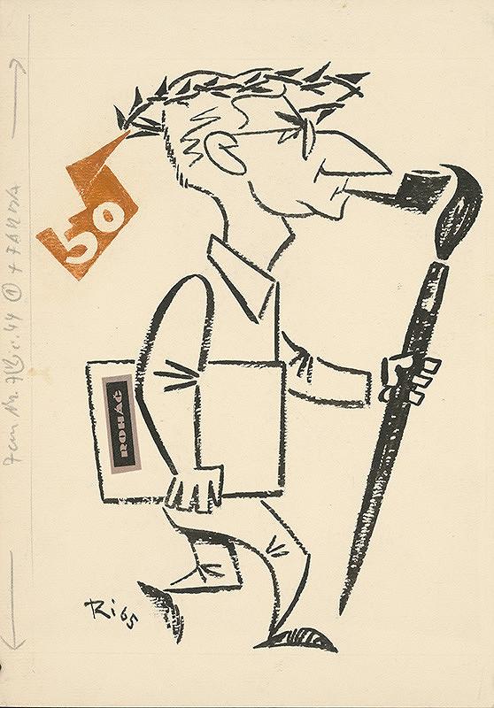 Alexander Richter - Karikatúra Antona Hollého