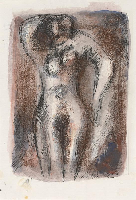 Jan Bauch - Stojaci ženský akt