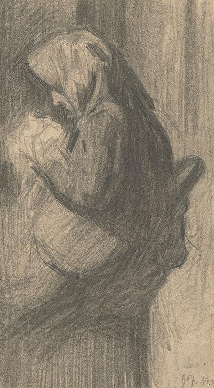 Eduard Putra – Štúdia sediacej ženy