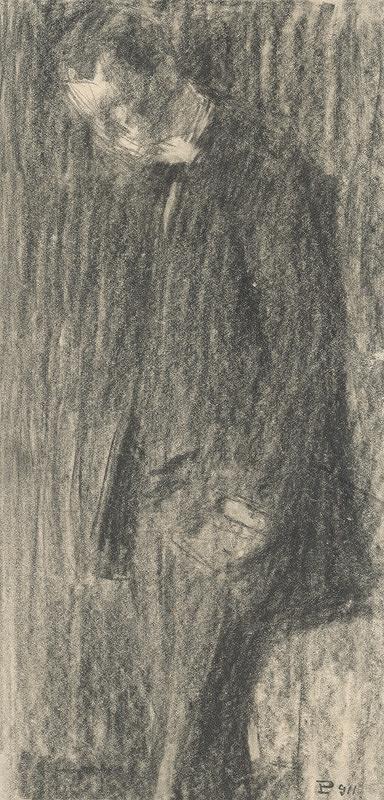 Eduard Putra - Štúdia stojaceho muža