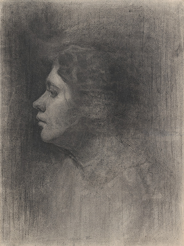 Eduard Putra – Portrétna štúdia ženskej hlavy